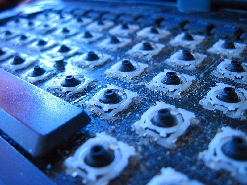 teclado sucio