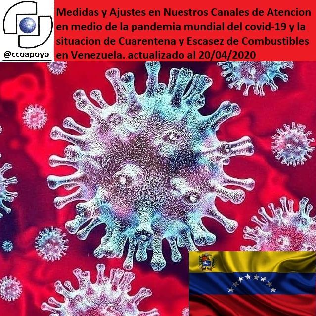 CCO Coronavirus 20/04/2020